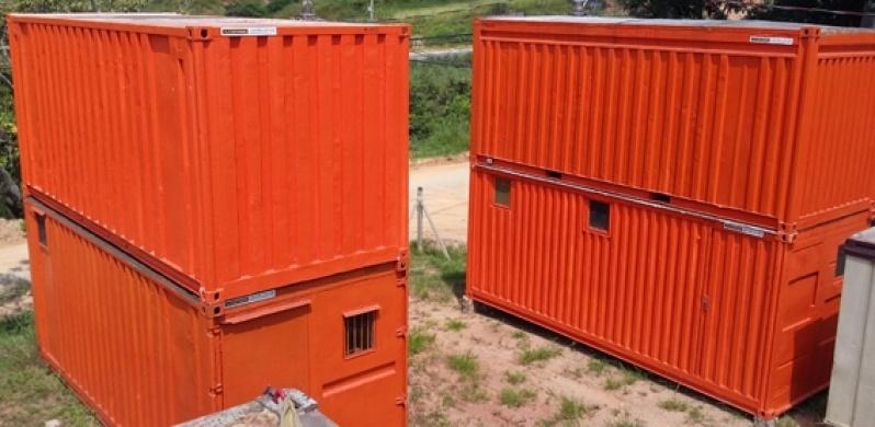 Alugar Container para Obras Preço Ponte Rasa - Alugar Container com Banheiro