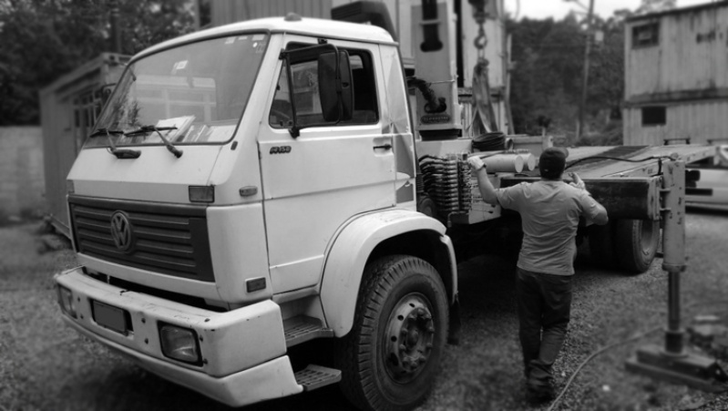 Caminhão para Transporte de Container Santos - Caminhão Carga para Içamento de Container