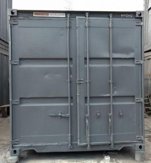 Container de Armazenamento de Carros Preço Paulínia - Container para Obras de Construção