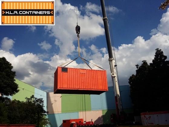 Içamento de Container em Caminhões Jardim América - Içamento de Container