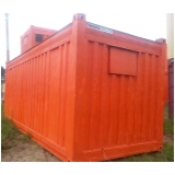 alugar container para construção Santa Cecília