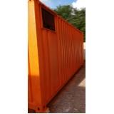 aluguel de container com banheiro Hortolândia