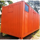 aluguel de container de escritório Vila Esperança