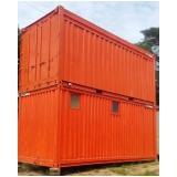 aluguel de container para construção civil sp São Domingos