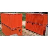 aluguel de container para construção preço Campo Belo