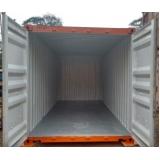 aluguel de container para depósito preço Sé
