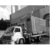 caminhão articulado para içamento de container Santa Isabel