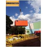 caminhão para içar container Vila Guilherme