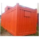 container escritório dimensões Água Branca