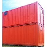 container habitável para locação preço Água Branca