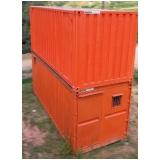 container para guardar material de construção preço Santana de Parnaíba