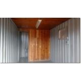 container para morar com banheiro Sé