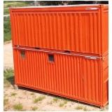 container sanitário para alugar Água Branca