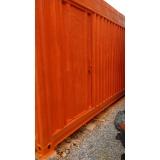 container tipo depósito Vila Medeiros