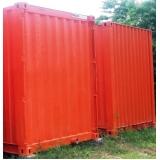 container usado para depósito Araras