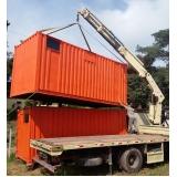 containers para guardar material de construção Taubaté