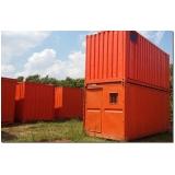 containers para obras de construção civil Santa Efigênia