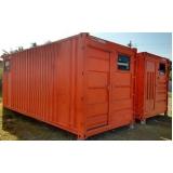containers para obras de construção Campinas