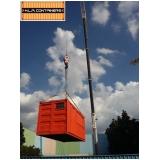 içamento de container com caminhão articulado preço Campinas