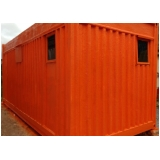 locação container habitável Glicério