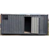 locação de container canteiro de obra preço Centro