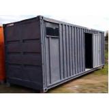 locação de container de obras preço Sumaré