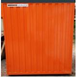 locação de container para construção civil preço Santo André