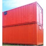 locação de container para construção preço Santa Cecília