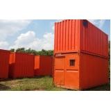locação de container para guardar material de construção Suzano