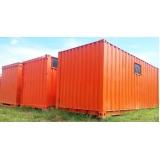 locação de container para obra preço Campinas