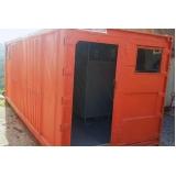 locação de container para obras Limeira