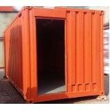 locação de container preço Vila Prudente