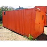 locação de container sanitário quanto custa Tremembé