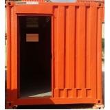 locação de containers com ar condicionado Higienópolis