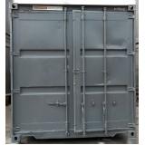 locação de containers obra Santa Cecília