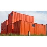 preços de containers de obra Louveira