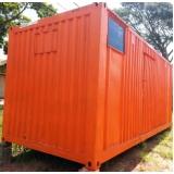 quanto custa container de obra para locação Cidade Tiradentes