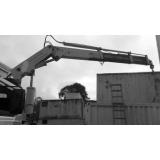 serviço de caminhão articulado para içamento de container Salesópolis