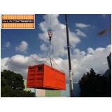 serviço de içamento de container com caminhão articulado Ipiranga